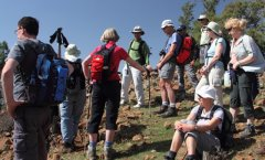 The group has a short rest on second day in Atlas Mountains.jpg